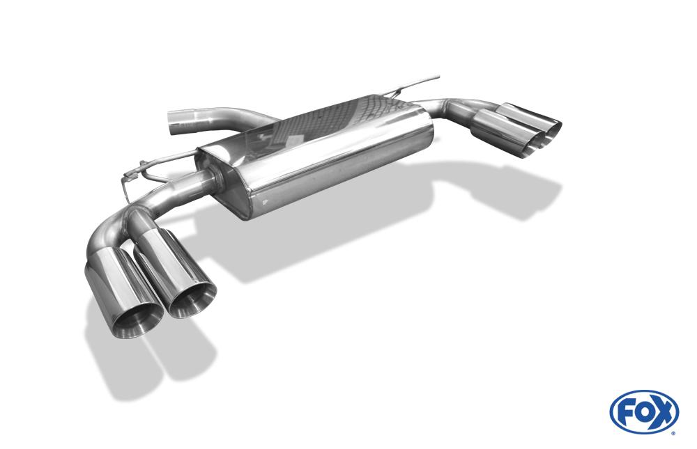 Fox Duplex Endschalldämpfer SE042165-290 für Seat Leon