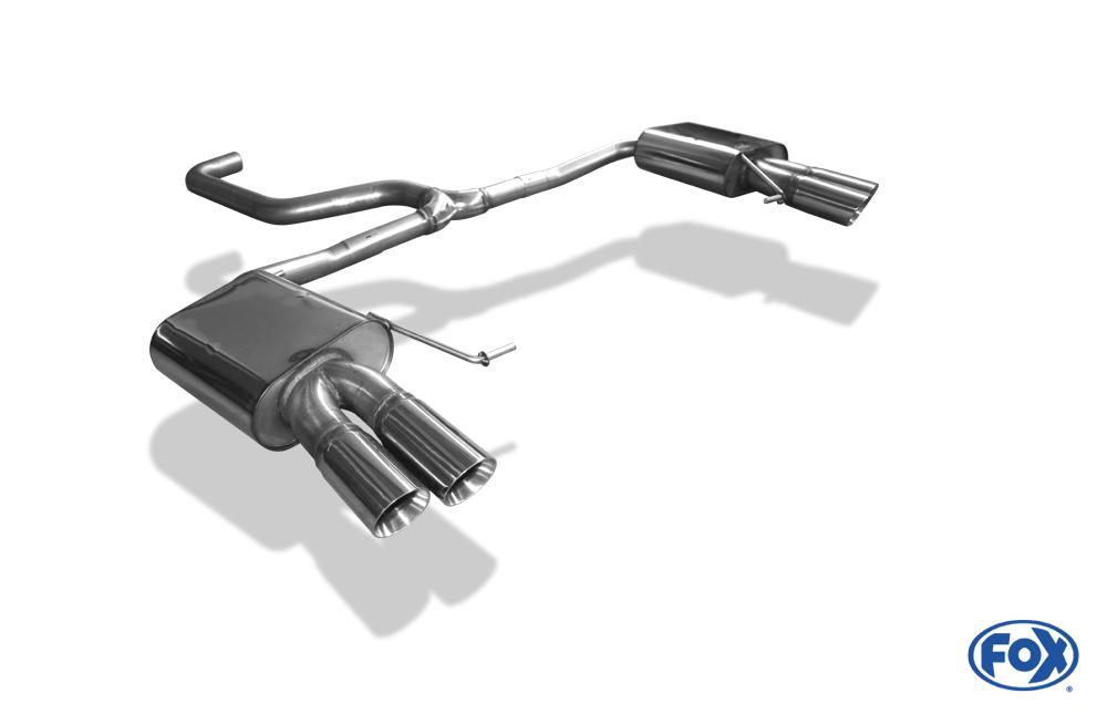 Fox Duplex Endschalldämpfer SE042173-290 für Seat Leon
