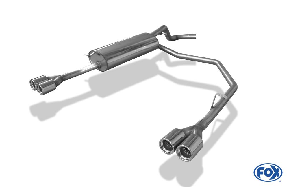 Fox Duplex Endschalldämpfer VW110012-068 für VW Bora