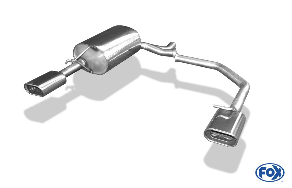 Fox Duplex Endschalldämpfer SK060064-593 für Skoda Octavia