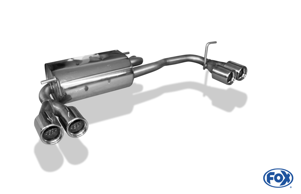 Fox Duplex Endschalldämpfer SU010015-068 für Subaru Justy