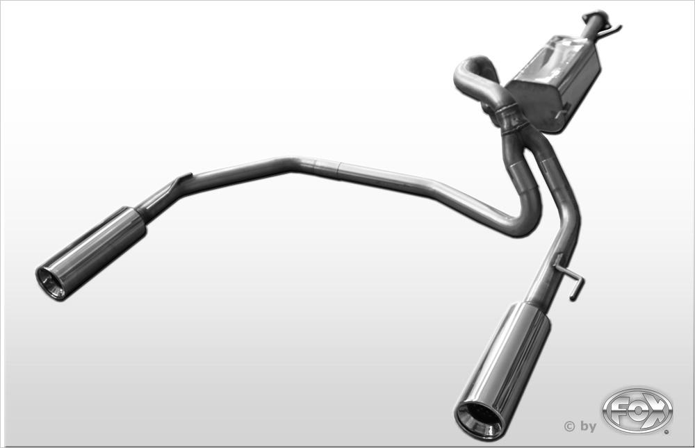 Fox Duplex Endschalldämpfer TO053001-073 für Toyota Land Cruiser