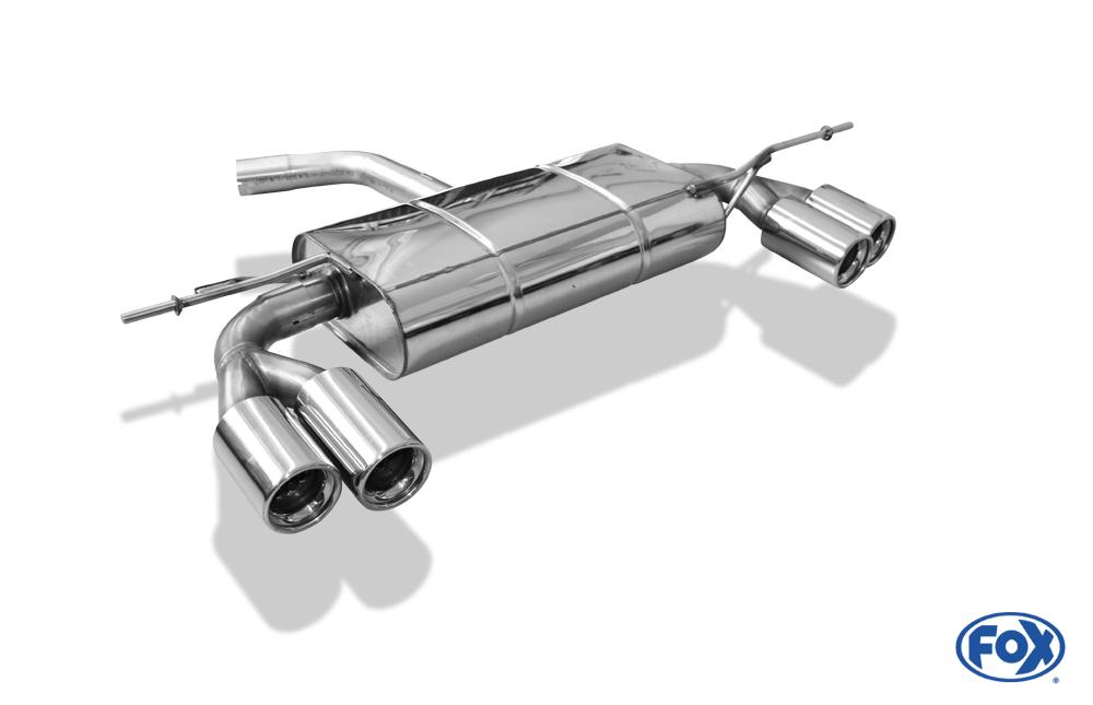 Fox Duplex Endschalldämpfer VW054015-070 für VW Golf
