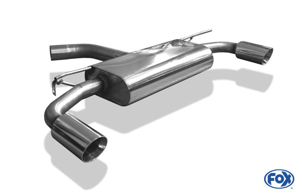Fox Duplex Endschalldämpfer VW056145-291 für VW Golf