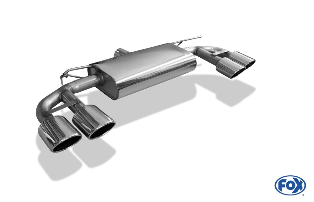 Fox Duplex Endschalldämpfer VW056135-748 für VW Golf