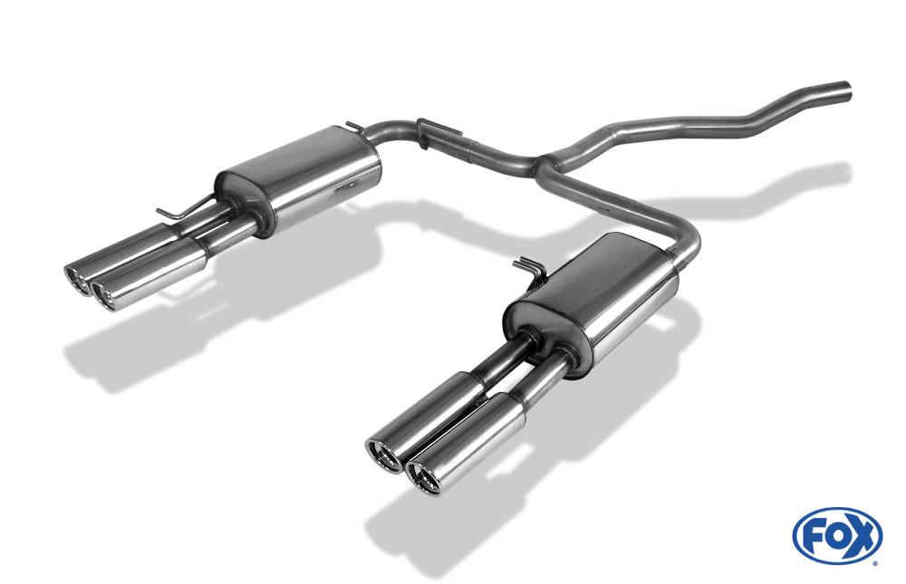 Fox Duplex Endschalldämpfer VW131004-070 für VW T5/ T6
