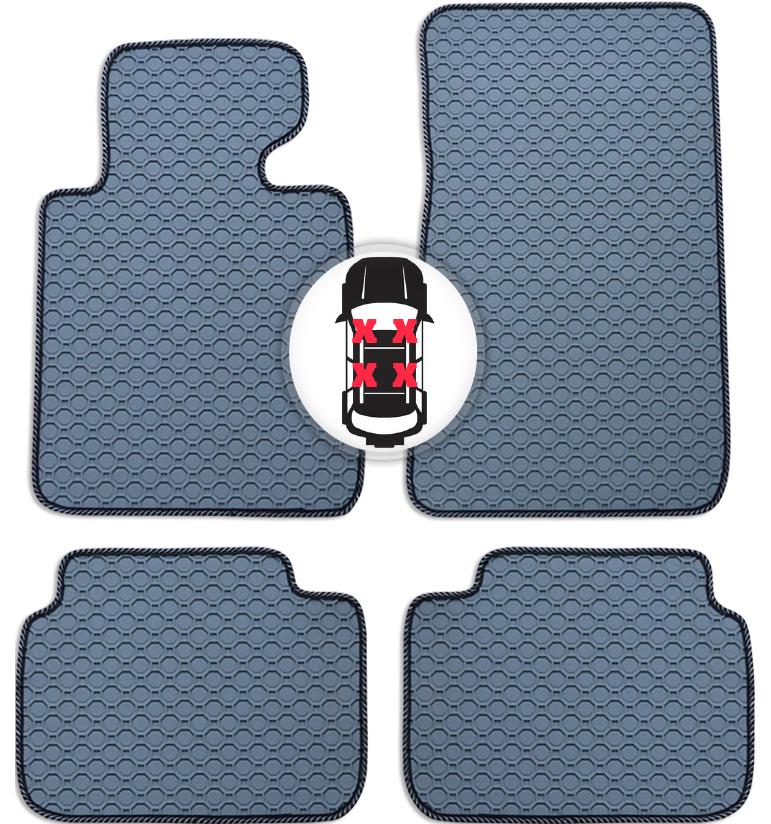 Gummi Fußmatten Set Auto Matte grau für BMW X5 E70 Bj. 08/06 - 04/13