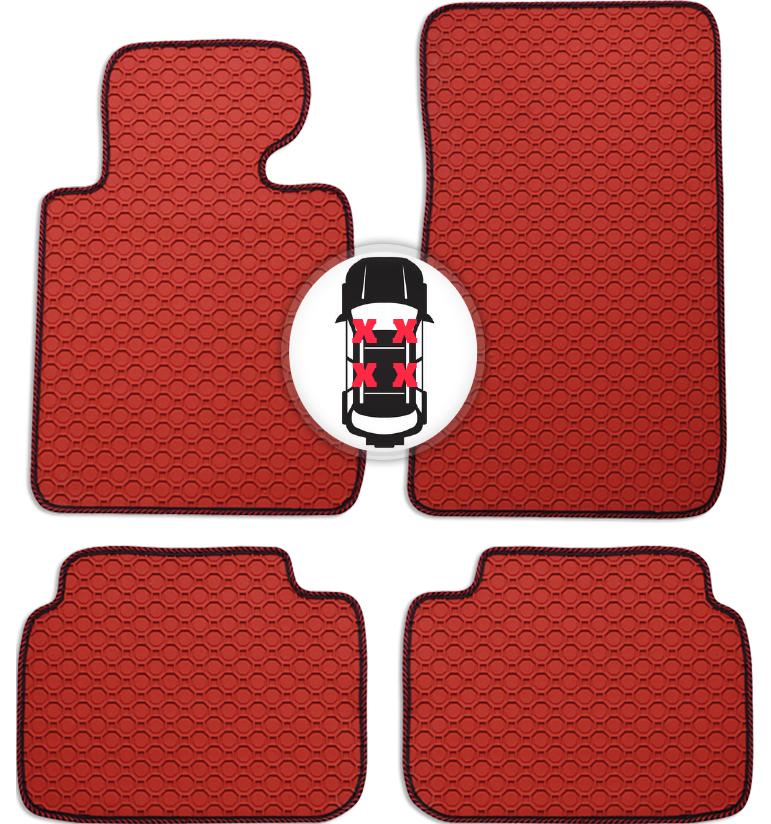 Gummi Fußmatten Set Auto Matte rot für Mazda 6 GJ Limousine ab Bj. 02/13