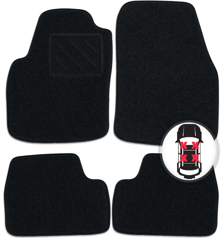 Fußmatten Set schwarz für VW Golf VII 7 Variant Kombi ab Bj. 09/13