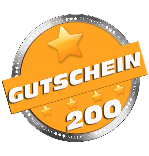 Gutschein im Wert von 200,00 Euro für nur 195,00€ !!!
