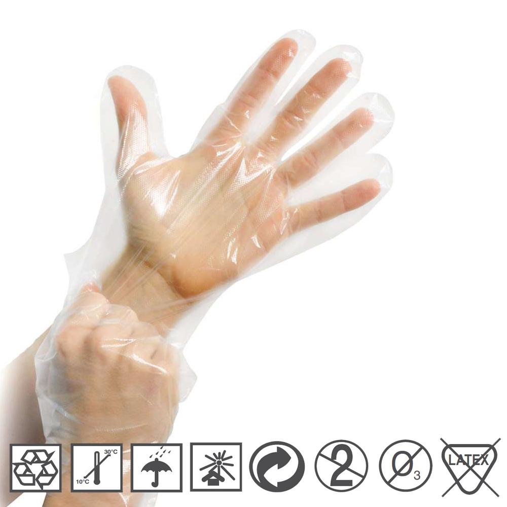 Einmalhandschuh Handschuh Einweghandschuh Dieselhandschuh Unisex PE 100 Stk Box