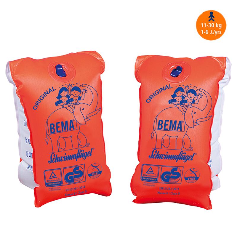 Schwimmflügel Schwimmärmel Schwimmhilfe Schwimmlernhilfe BEMA Orange Gr. 0