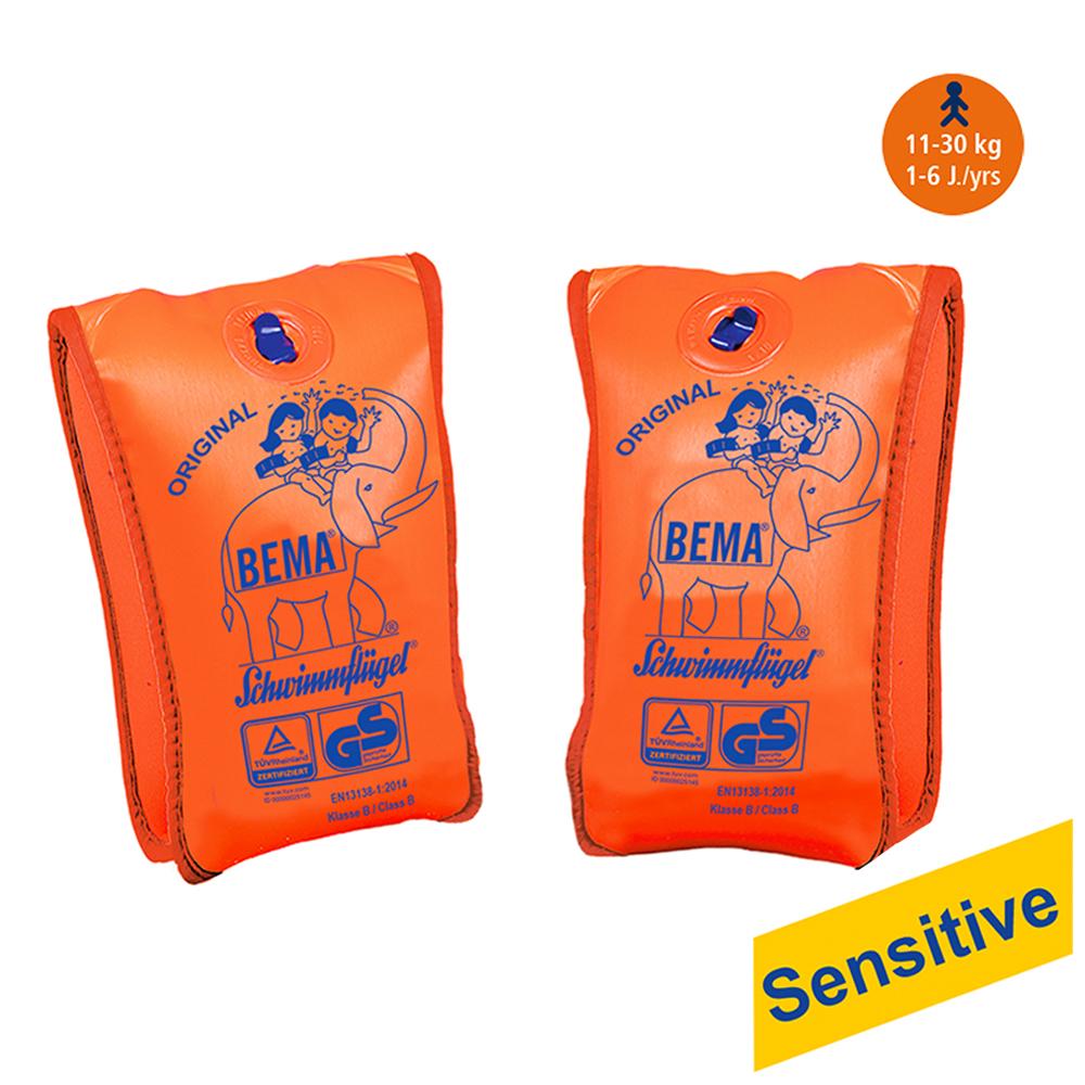 Schwimmflügel Schwimmärmel Sensitive Schwimmhilfe Schwimmlernhilfe BEMA Orange