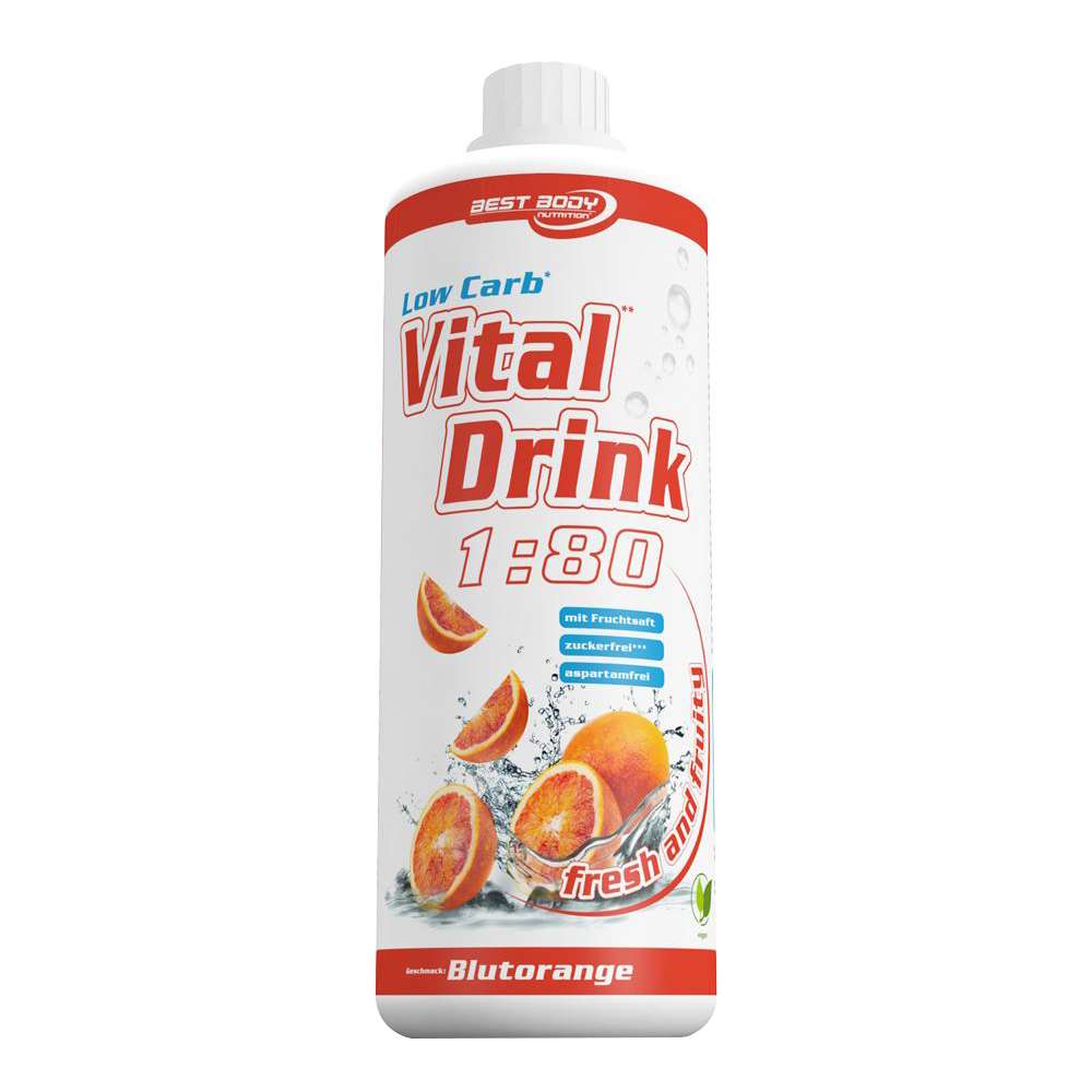 Blutorange Mineraldrink Nutrition Getränkekonzentrat kalorienarm Vital Drink 1L