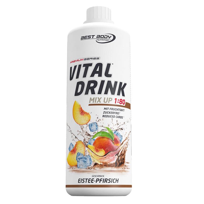 Eistee Pfirsich Peach Mineraldrink Nutrition Getränkekonzentrat Vital Drink 1L
