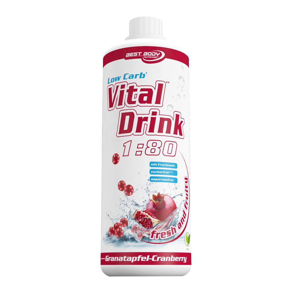 Granatapfel Cranberry Mineraldrink Getränkekonzentrat kalorienarm Vital Drink 1L