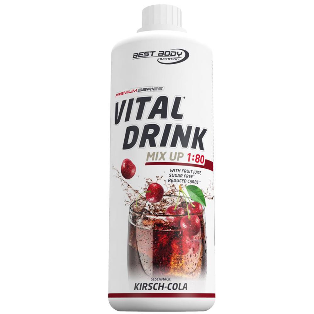 Kirsch Cola Kola Mineraldrink Nutrition Getränkekonzentrat kalorienarm Sirup 1L