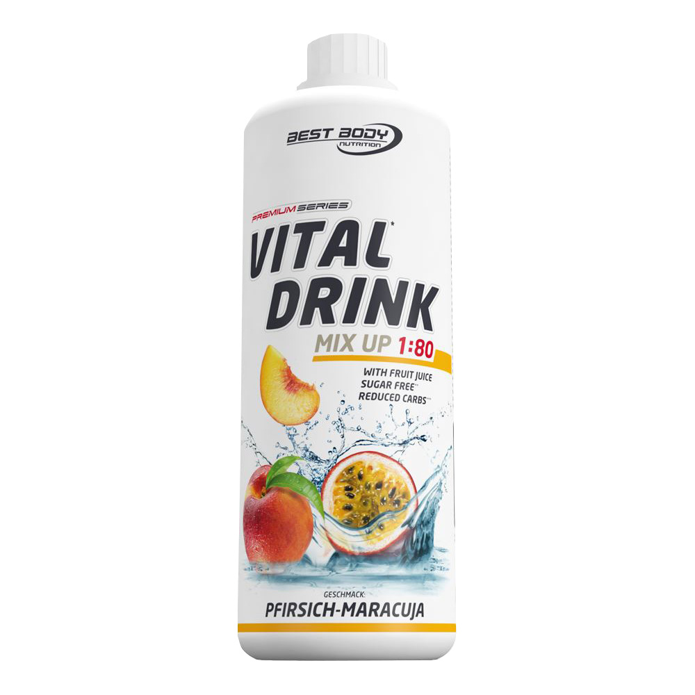 Maracuja Mineraldrink Nutrition Getränkekonzentrat kalorienarmer Vital Drink 1L