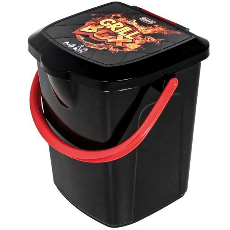 Grilleimer Kohleeimer Eimer Grillbox Hocker Holzkohle Grill Kohle Box 22 Liter