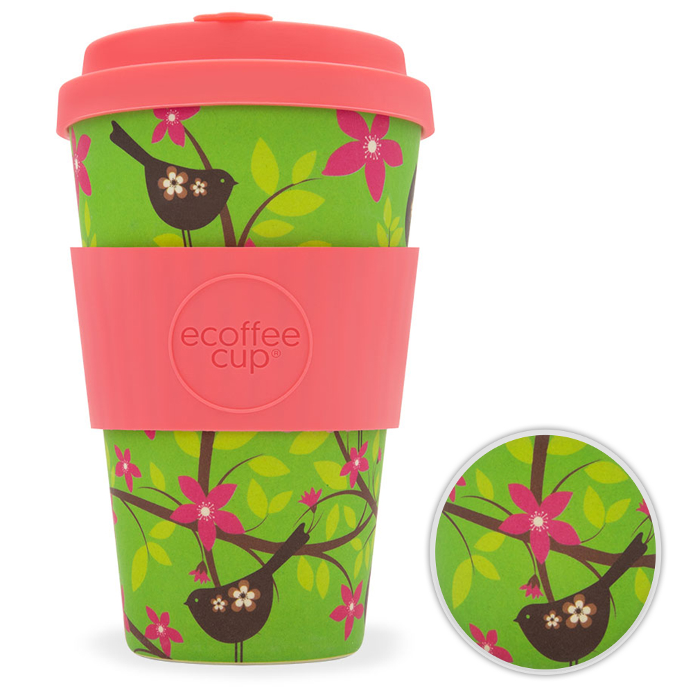 Kaffeebecher Bambusbecher Mehrwegbecher 400ml Kaffee Tee Becher Widdlebirdy
