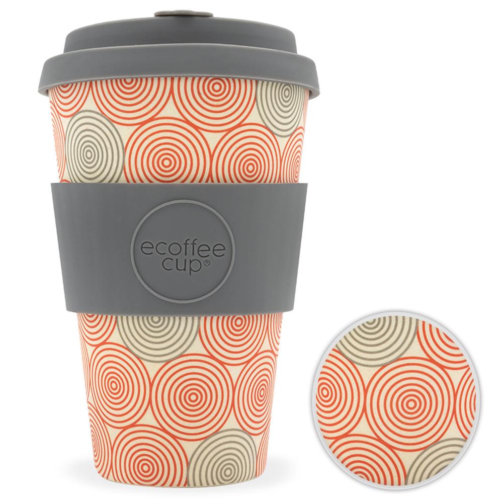 Kaffeebecher Bambusbecher Mehrwegbecher 400ml Kaffee Tee Becher Swirl