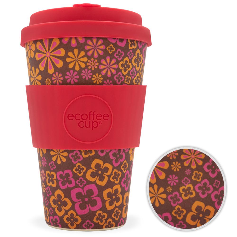 Kaffeebecher Bambusbecher Mehrwegbecher 400ml Kaffee Tee Becher Yeah Baby