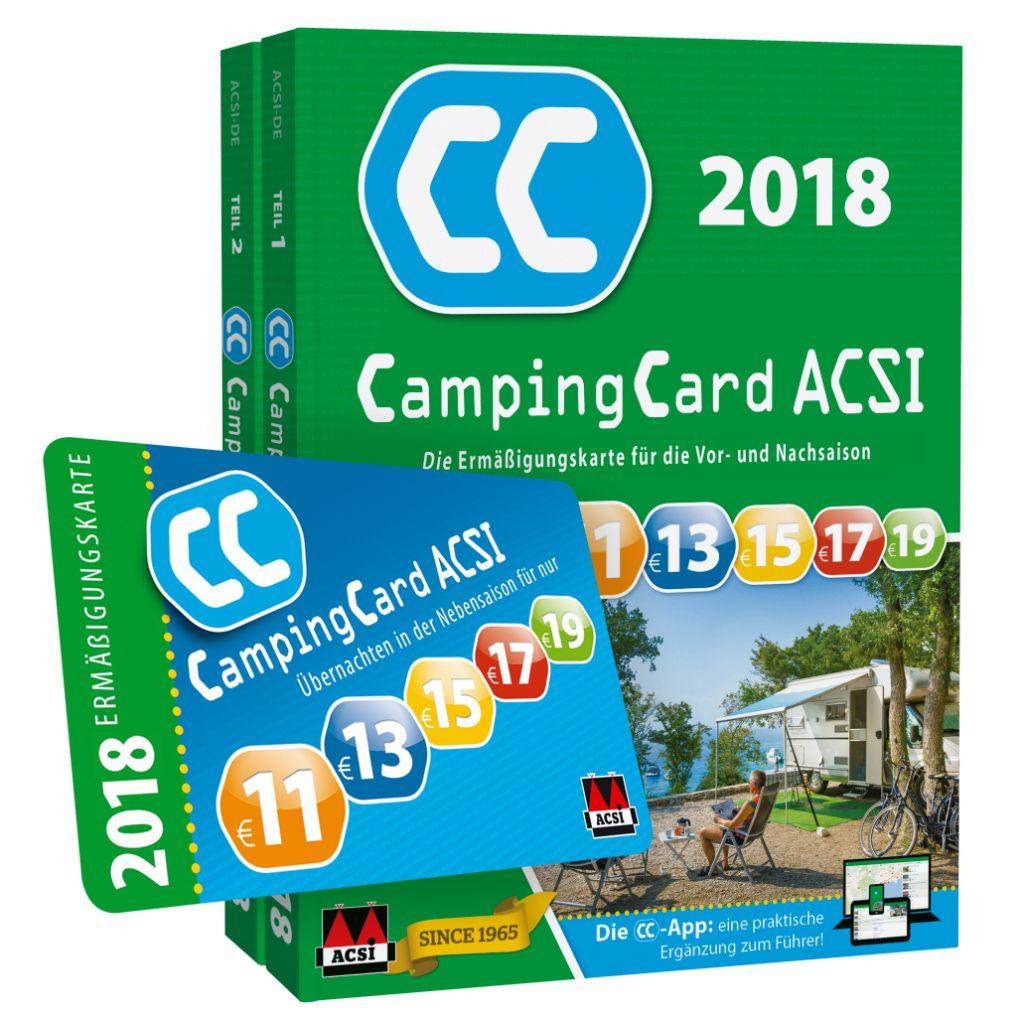 ACSI CampingCard 2018 Campingführer Reiseführer Ermäßigungskarte bis 50% Rabatt