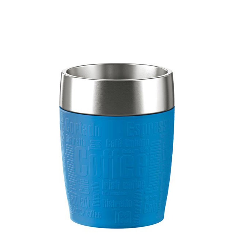 Emsa Isolierbecher Thermobecher Travel Cup Trinkbecher Kaffeebecher 200 ml Blau