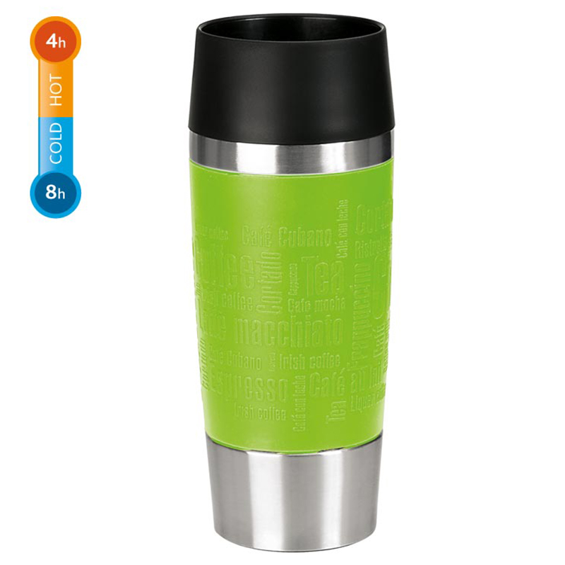 Emsa Isolierbecher Thermobecher Travel Mug Trinkbecher Kaffeebecher 360 ml Grün