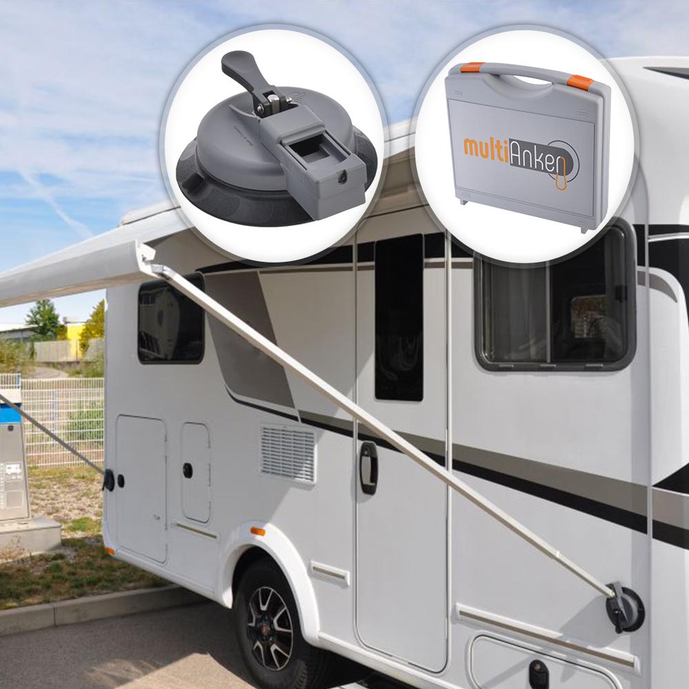 Stützfußhalter Halter Markise Wohnmobil Wohnwagen multiAnker 2.0 inkl. Koffer