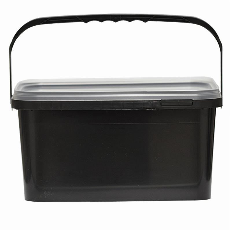 5,9L Eimer schwarz Aufbewahrung Leereimer Kunststoffeimer Deckel Plastikeimer