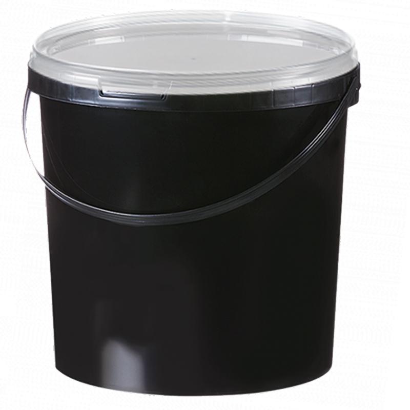 10,8L Eimer schwarz Aufbewahrung Leereimer Kunststoffeimer Deckel Plastikeimer