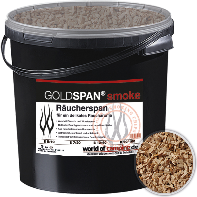 GOLDSPAN smoke B 10 / 40 Räucherspäne Räuchern Buche Räucherholz Smoking 5kg