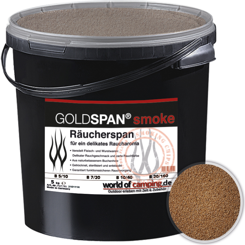 GOLDSPAN smoke B 5 / 10 Räucherspäne Räuchern Buche Räucherholz Smoking 5kg