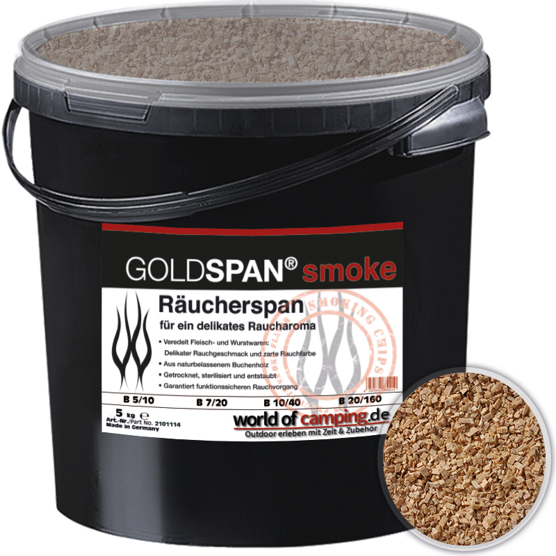 GOLDSPAN smoke B 7 / 20 Räucherspäne Räuchern Buche Räucherholz Smoking 5kg