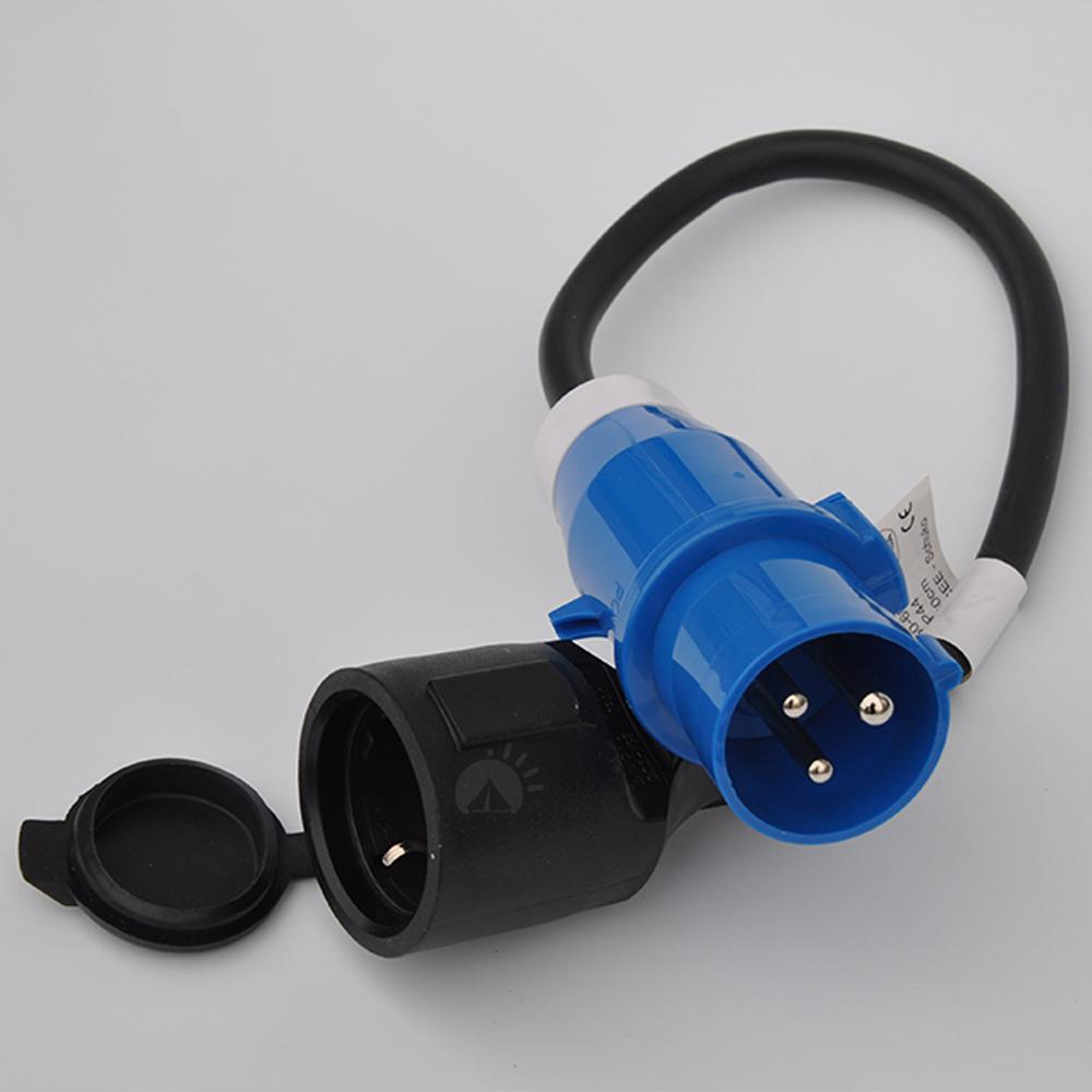 Adapter Kabel CEE Stecker Schuko Kupplung 3x 2.5mm² 50cm Campingadapter