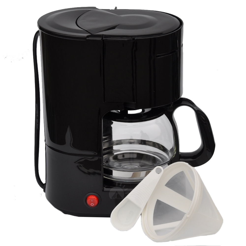 Kaffeemaschine Kaffee 12V 6 Tassen Dauerfilter Glaskanne Camping Auto Reise 170W