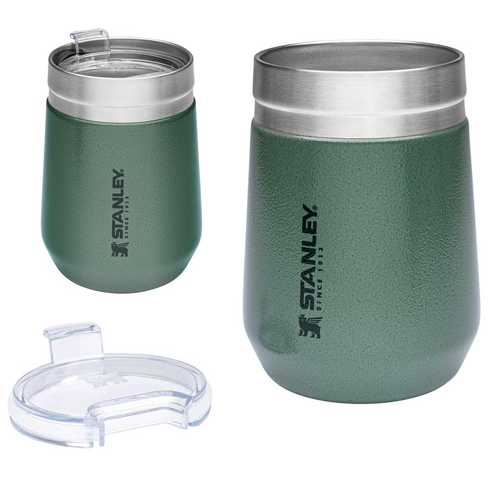 Stanley Tumbler Trinkbecher Trinkbehälter 290ml mit Deckel Isoliert Vakuum Becher grün