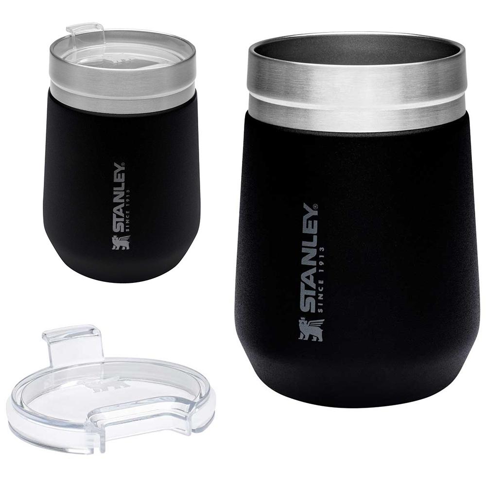 Stanley Tumbler Trinkbecher Trinkbehälter 290ml mit Deckel Isoliert Vakuum Becher schwarz