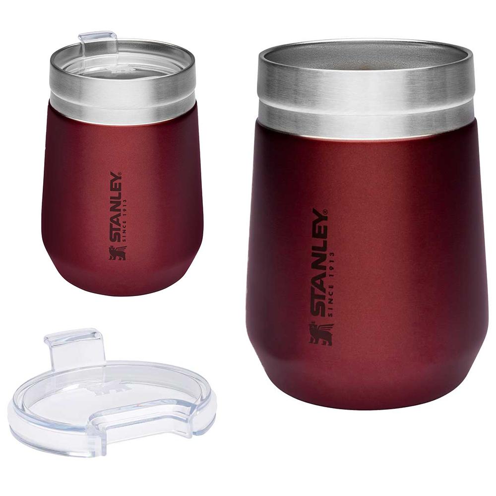 Stanley Tumbler Trinkbecher Trinkbehälter 290ml mit Deckel Isoliert Vakuum Becher rot