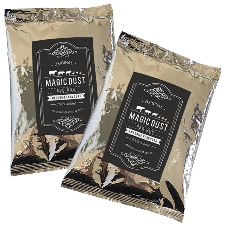 Magic Dust Rub BBQ 100% natürliches Grill Gewürz Trockenmarinade 1000gr