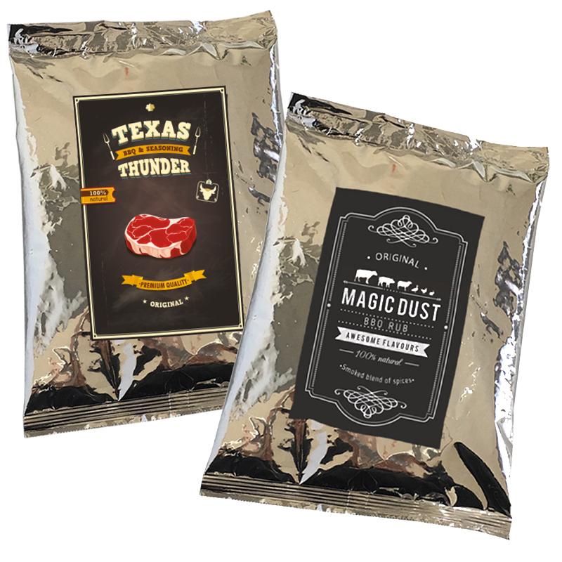 Magic Dust Rub + Texas Thunder BBQ 100% natürliches Grill Gewürz Trockenmarinade