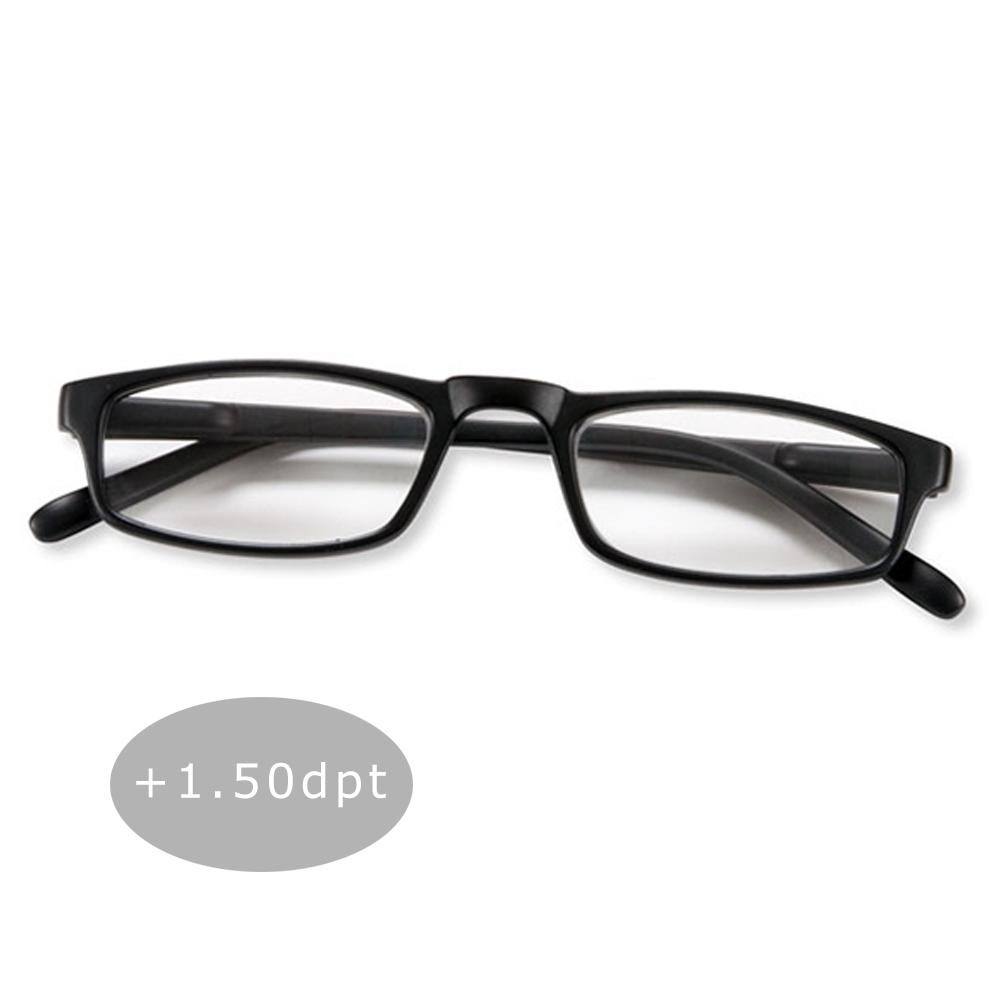 Lesebrille Lesehilfe Halblesebrille Brille Federbügel Unisex + 1.50 dpt Schwarz