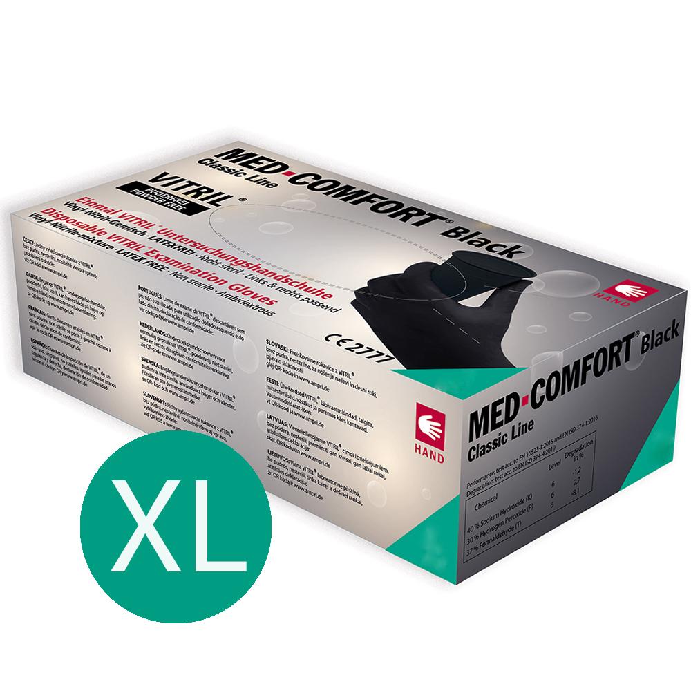 Einmalhandschuh Handschuh Einweghandschuh Schwarz Unsteril 100 Stk. Gr. XL