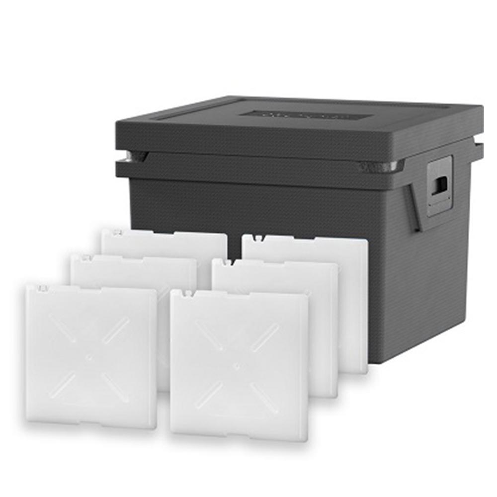 QOOL Box Deep Frozen Box Eco+ L Passiv Kühlbox Kühltruhe Kühlen -25° bis -15° Grad