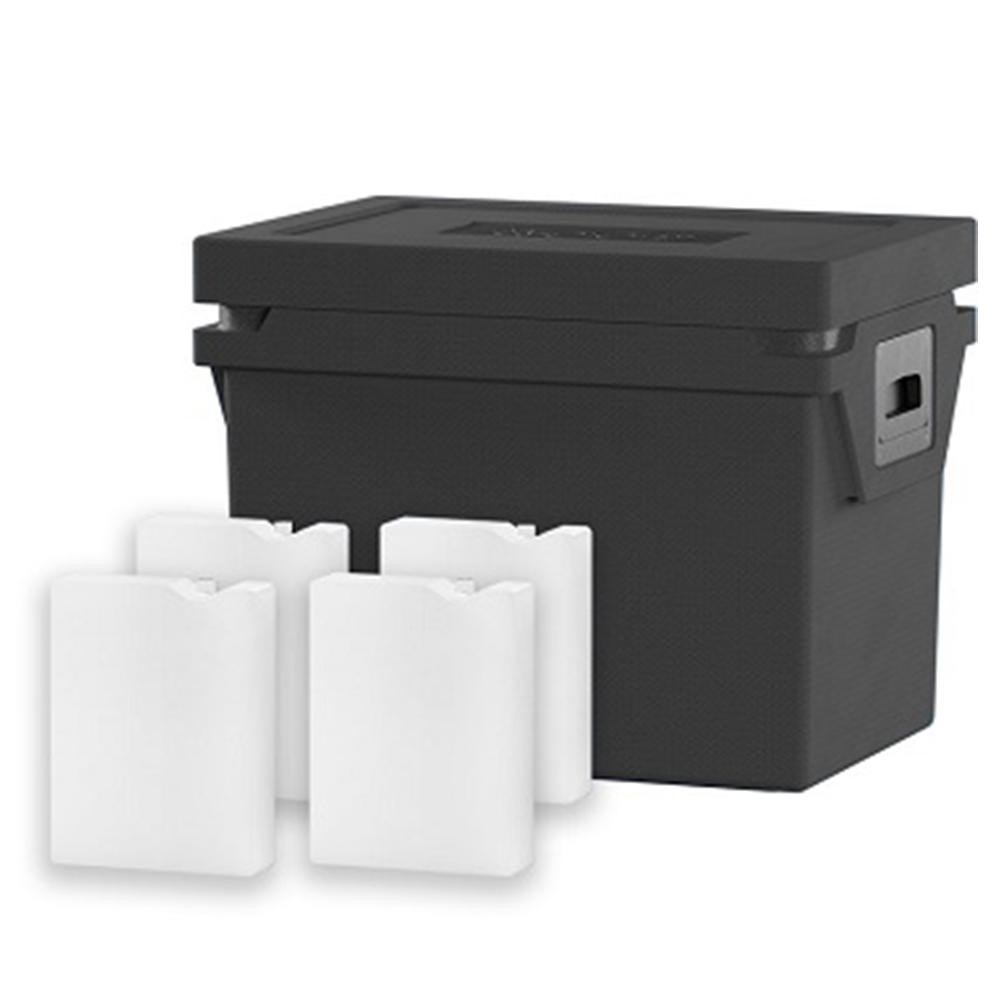 QOOL Box Deep Frozen Box Eco+ M Passiv Kühlbox Kühltruhe Kühlen -25° bis -15° Grad
