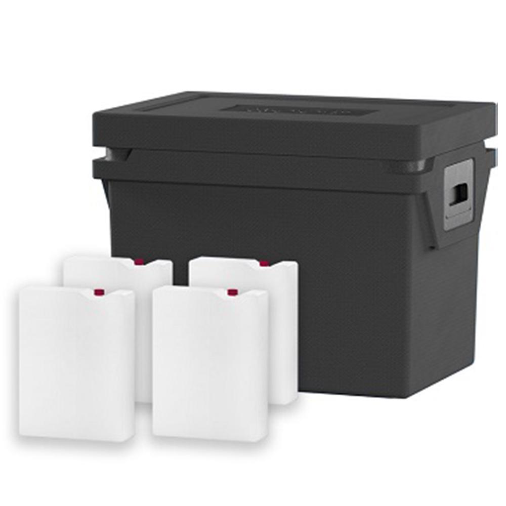 QOOL Box Standard Frozen Eco+ M Passiv Kühlbox Kühltruhe Kühlen -20° bis -10° Grad