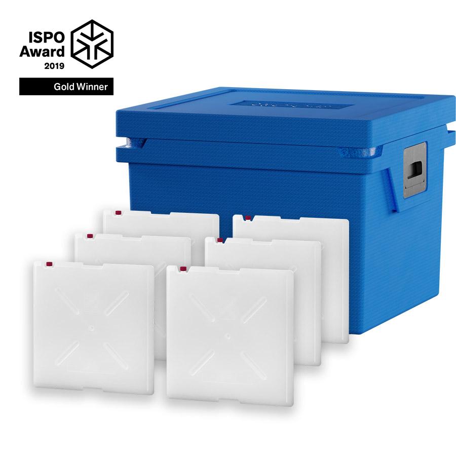 QOOL Box Deep Frozen Box L Passiv Kühlbox Kühltruhe Kühlen -25° bis -15° Grad