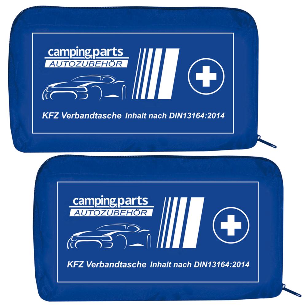 2x Auto Verbandskasten Verbandstasche Fahrzeug Verbandtasche DIN 13164 Blau