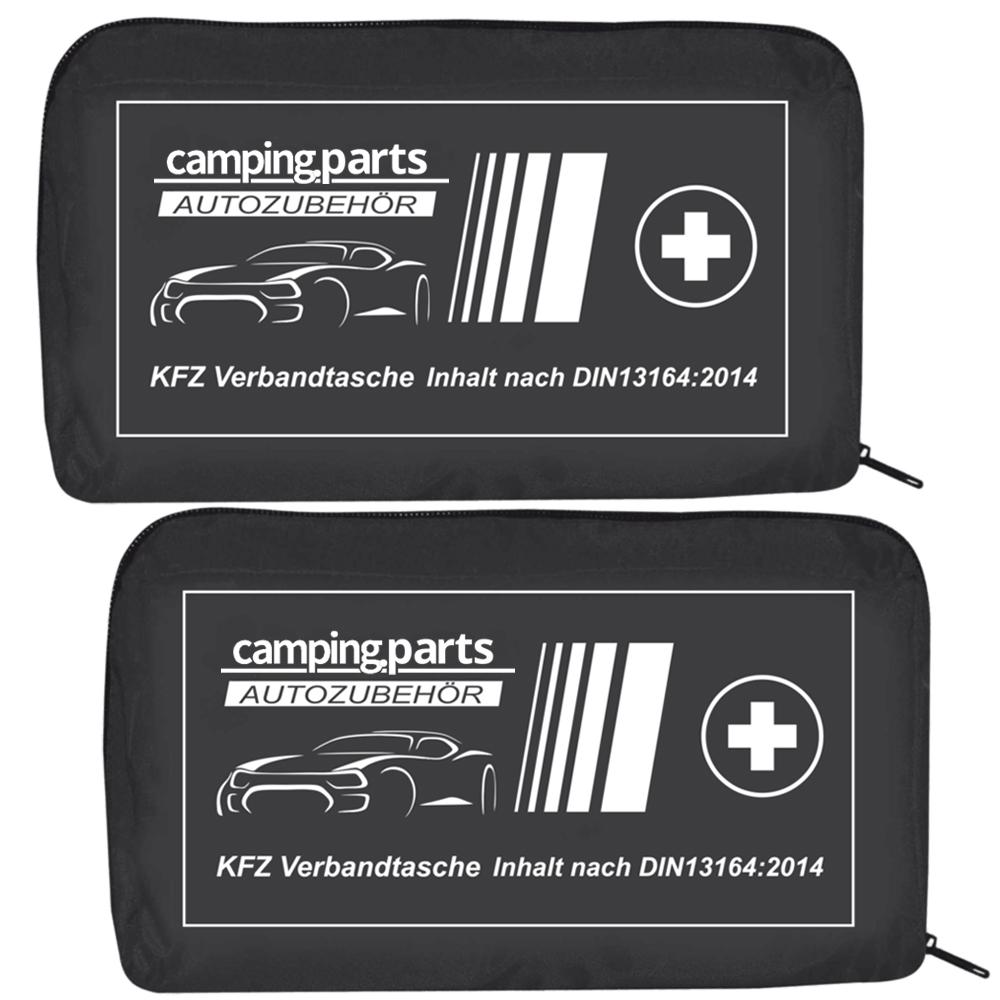 2x Auto Verbandskasten Verbandstasche Fahrzeug Verbandtasche DIN 13164 Schwarz